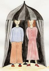 Le Parasol à histoires (dessin)