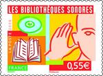 Le timbre qui reprend le logo de l'ADV