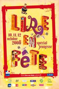 L'affiche de Lire en fête 2008