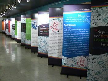 Les panneaux de l'exposition