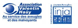 les logos de l'AVH et de l'INJA