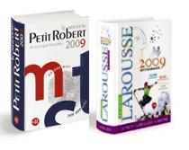 dictionnaires le petit Robert et le Larousse illustré 2009