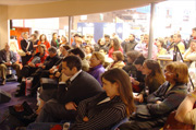Le public lors d'une rencontre au salon du livre