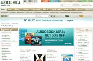 L'Audiobook Mp3 Store de Barnes & Noble