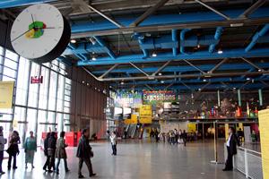 Le hall d'entrée du Centre Pomipdou