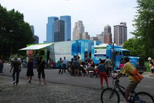 """La """"bookmobile"""" à New York"""