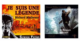 couverture du livre audio de Matheson et de celui de HP Lovecraft