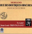 couverture du livre audio de Modiano