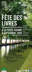 affiche de la fete du livre de la Ferté-Vidame