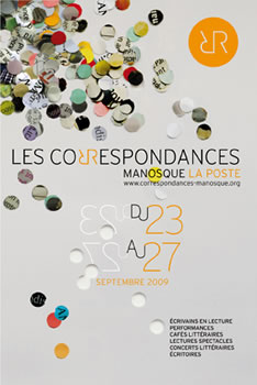 affiche des Correspondances de Manosque 2009