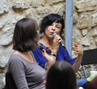 La chanteuse Clarika et Aurélie Kieffer à Manosque