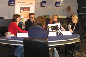François Berland, Aurélie Kieffer, Robin Renucci, Hélène Francisci et Simone Hérault au salon du livre 2009