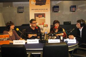 Aurélie Kieffer, Olivier Brunhes, Nncy houston et Jerome Bouvier au salon du livre 2009