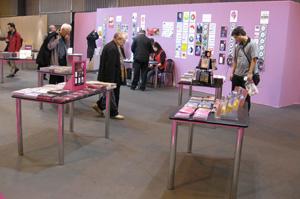 Stand consacré aux livres audio au Salon du livre 2009