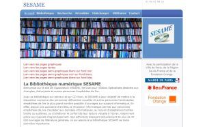 Capture d'écran du site de Sésame
