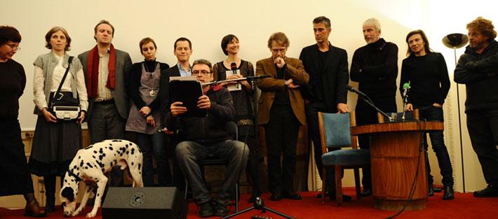 Le jury du prix 2010 sur scène