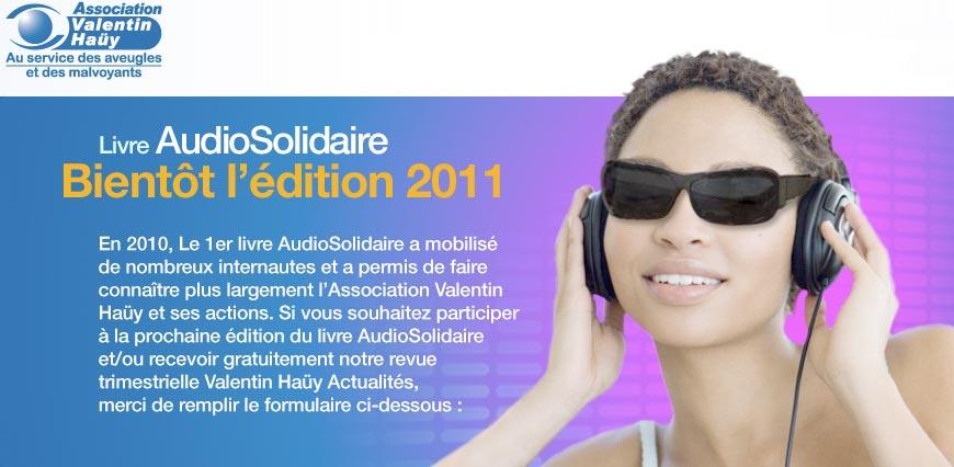 Livre AudioSolidaire 2011