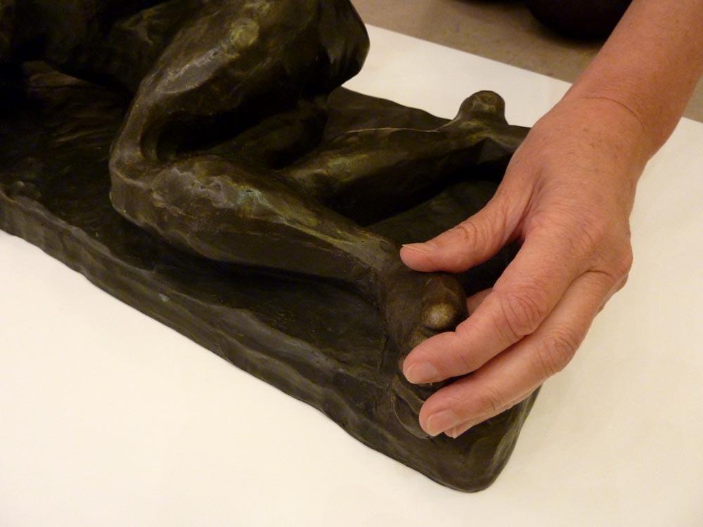 Visites tactiles au MAM de Paris - Nu couché