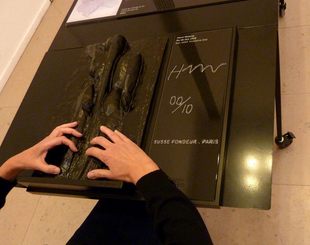 Visites tactiles au MAM de Paris - Nu de dos