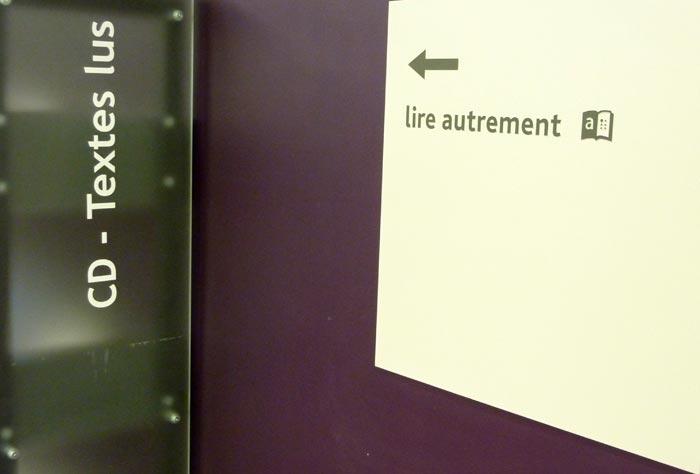 Le pôle Lire Autrement de la médiathèque Marguerite Duras
