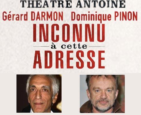 Inconnu à cette adresse au théâtre Antoine