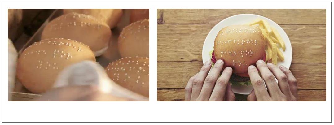 Les hamburgers en braille de Wimpy