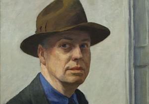 Détail de l'autoportrait de Hopper