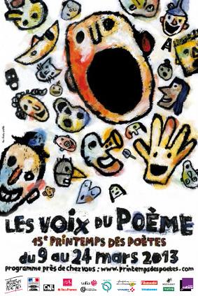 Affiche Les voix du poème