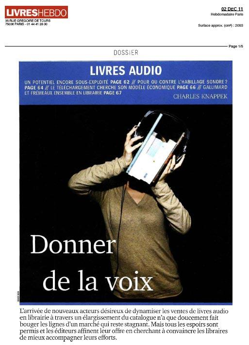 Dossier Livres audio paru dans Livres Hebdo