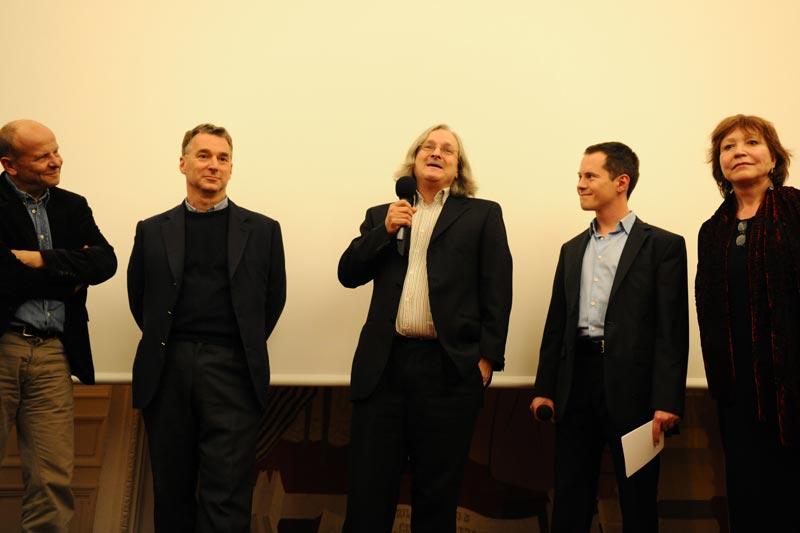 Marc Lachièze-Rey, Ronald Wood, Etienne Ghys et Christine Goémé